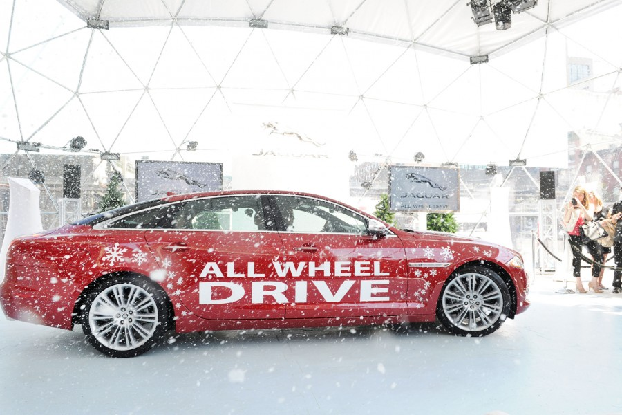 """NEW YORK, NY - AUGUST 16:  Jaguar announces instinctive All Wheel Drive at the brands """"Chill NY"""" experience at High Line Park, New York City on August 16, 2012  (Photo by Craig Barritt/Getty Images for Jaguar)"""