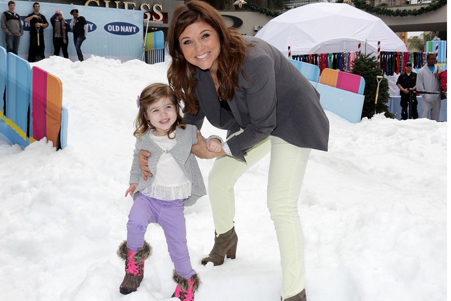 """Old Navy Sledding & A Movie""  A Real Snow Experience at Hollywood & Highland Center."